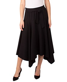 Petite Tie-Front Knit Skirt