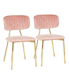 Bouton Gold Frame Dining Chair (Set of 2)