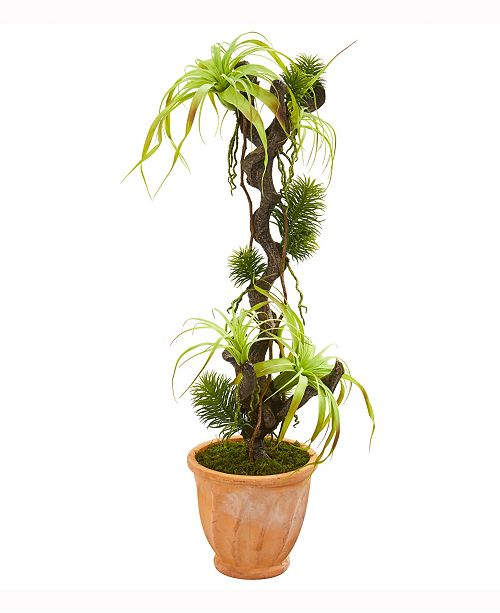 Nearly Natural 45in. Tillandsia Artificial Plant in Terracotta Planter