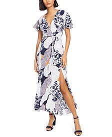 Tiered-Sleeve Maxi Dress