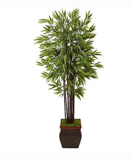 Nearly Natural 67in. Bamboo Artificial Tree in Decorative Planter