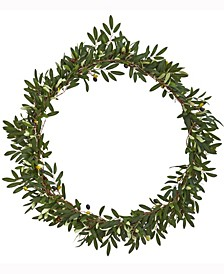 28in. Olive Artificial Wreath