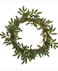 16in. Olive Artificial Wreath