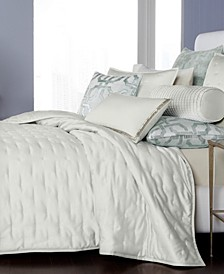 CLOSEOUT! Fresco Sage Quilted Full/Queen Coverlet, Created for Macy's