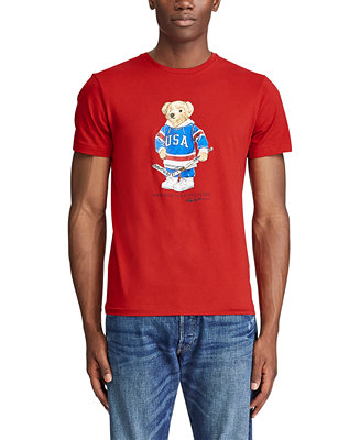 Men's Custom Slim Fit Polo Bear T Shirt by General