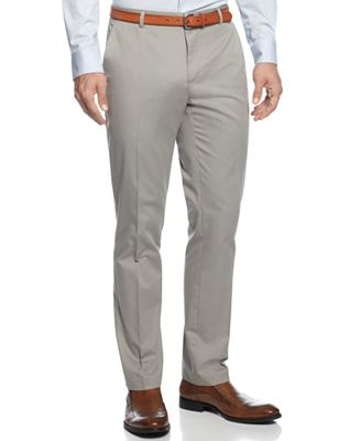 Calvin Klein Men's Core Slim-Fit Refined Twill Pants - Pants - Men ...