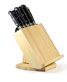 PREMIUM 8 Piece Rotating Stainless Steel Knife Block Set