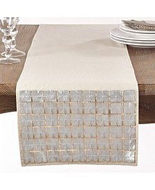Square Cutwork Table Runner