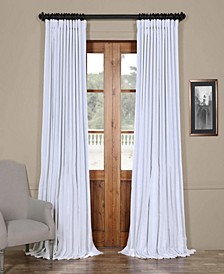 "Extra Wide 100"" x 84"" Faux Silk Blackout Curtain Panel"