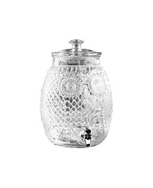 Stylesetter Owl Glass Beverage Dispenser 2.3 Gallons