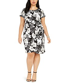 Plus Size Jersey Side-Knot Dress