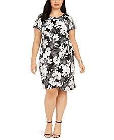 Plus Size Jersey Side-Knot Dress