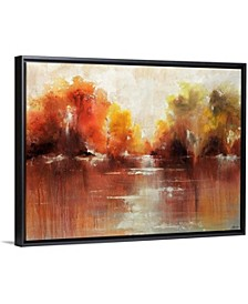 "40 in. x 30 in. ""Jeweled Water"" by  Sydney Edmunds Canvas Wall Art"