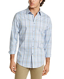 Men's Stretch Dash Plaid Shirt, Created for Macy's