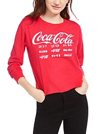 Juniors' Coca Cola-Print T-Shirt