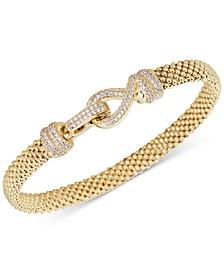 Diamond Clasp Popcorn Link Bracelet (5/8 ct. t.w.) in 14k Gold