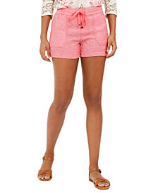 Style & Co Petite Linen-Blend Pull-On Shorts, Created for Macy's
