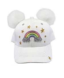 Toddler, Little, & Big Girls Rainbow Hat