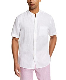 Men's Crossdye Linen Woven Short-Sleeve Shirt, Created for Macy's