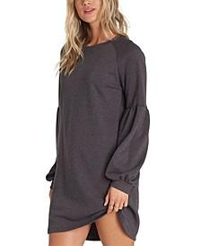 Juniors' Fleece Sweatshirt Dress
