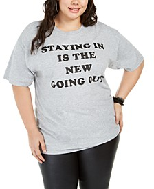 Trendy Plus Size Staying In T-Shirt, Created For Macy's