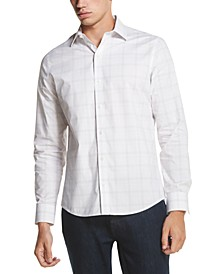 Men's Performance Stretch French Placket Plaid Shirt