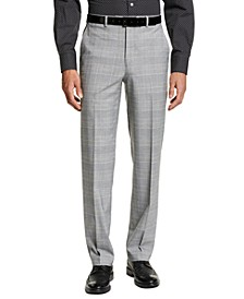 Men's Classic-Fit Black and Yellow Plaid Suit Separate Pants