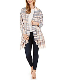 Textured Plaid Travel Wrap