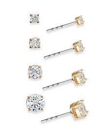 4-Pc. Set Cubic Zirconia Stud Earrings, Created for Macy's