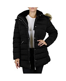 Women's Heavyweight Parka Jacket With Detachable Fur Hood