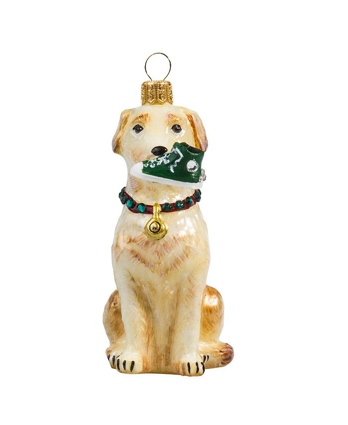 Joy to the World - Yellow Lab W/ High Top Sneaker