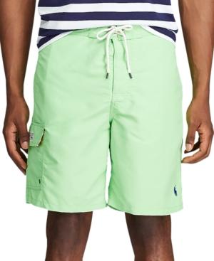 """Polo Ralph Lauren Men's 5.5"""" Traveler Swim Trunks In Green"""