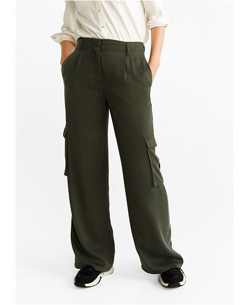 MANGO Soft Cargo Trousers