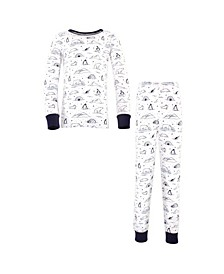 Baby Boy and Girl Tight Fit Long Sleeve Top and Pant Pajama Set