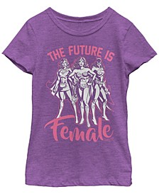 DC Comic's Big Girl's The Future is Female Short Sleeve T-Shirt