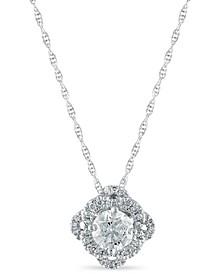 Diamond 5/8 ct. t.w. Pendant in 14K White Gold