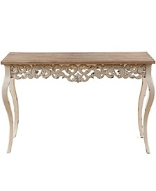 Wood Victorian Console And Entry Table