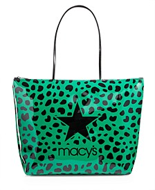 Green Leopard Logo Tote Bag, Created for Macy's
