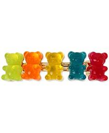 Gold-Tone Multicolor Gummy Bear Hair Clip