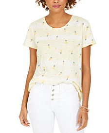 Print Scoop-Neck T-Shirt, Created for Macy's