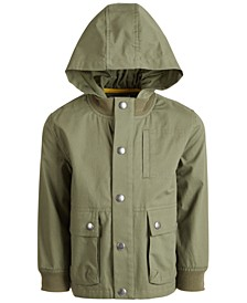 Little Boys Hooded Canvas Jacket, Created for Macy's