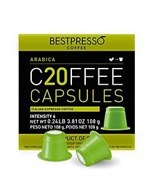 Coffee Arabica  Flavor 120 Capsules per Pack for Nespresso Original Machine