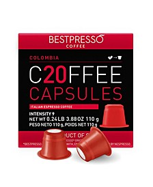 Coffee Colombia Flavor 20 Capsules per Pack for Nespresso Original Machine