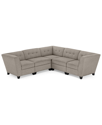 CLOSEOUT! Harper Fabric 5-Piece Modular Sectional Sofa, Created for Macy's