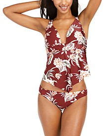 Floral Print Tankini Top & Tab-Side Hipster Bottoms, Created For Macy's