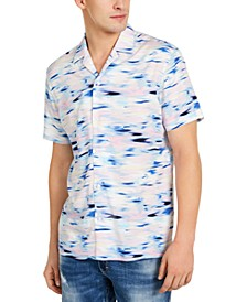 INC Men's Watercolor Blur Shirt, Created for Macy's