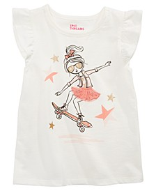 Little Girls Skater Girl T-Shirt, Created For Macy's