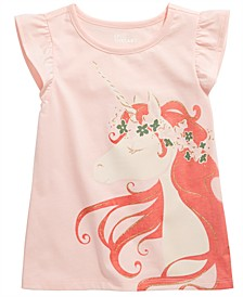 Little Girls Unicorn-Print T-Shirt, Created For Macy's
