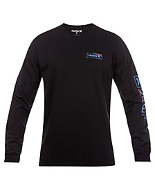 Men's One & Only Box Gradient Logo Long Sleeve T-Shirt