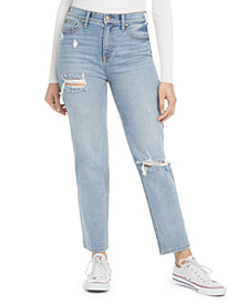 Celebrity Pink Juniors' Slim Straight Cropped Jeans